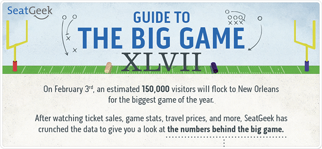 seatgeek super bowl XLVII infographic